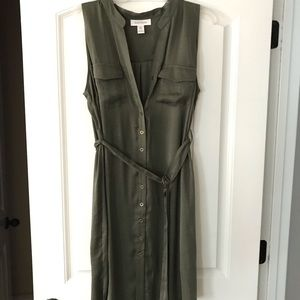 Motherhood Maternity Dress- olive - L